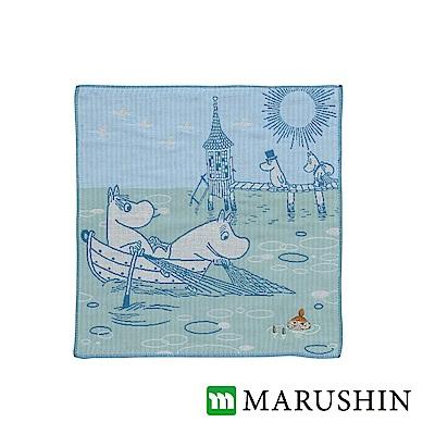 日本丸真 Moomin今治三層紗布方巾-萬里晴空的海上
