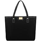 Calvin Klein 黑色輕量尼龍托特包-大型