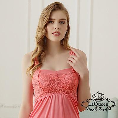內衣  完美提托蠶絲無鋼圈內衣背心裙-粉橘 La Queen