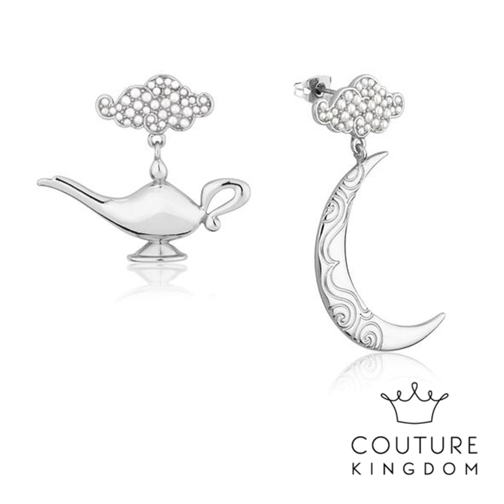 Disney Jewellery by Couture Kingdom 阿拉丁神燈白金耳環