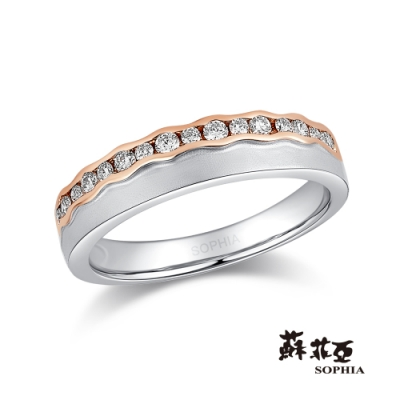 蘇菲亞SOPHIA-幸福花冠雙色鑽石女戒
