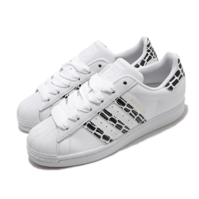 adidas 休閒鞋 Superstar W 復古 低筒 女鞋 愛迪達 三葉草 貝殼頭 皮革鞋面 穿搭 白 黑 FV3452