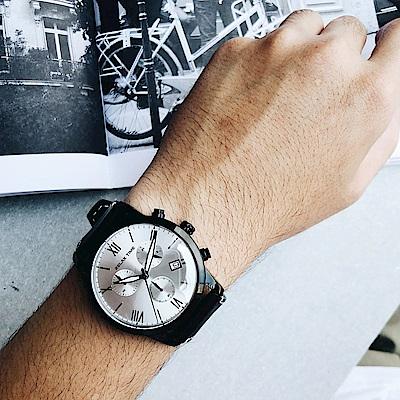 RELAX TIME RT67 飛行者計時手錶(RT-67-3)-銀x黑/45mm
