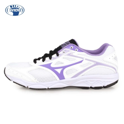 MIZUNO MAXIMIZER 21 女慢跑鞋-WIDE-路跑 寬楦 白紫