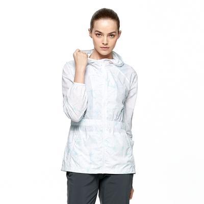 【HAKERS 哈克士】女 沁涼感抗UV防潑外套(淺藍花)