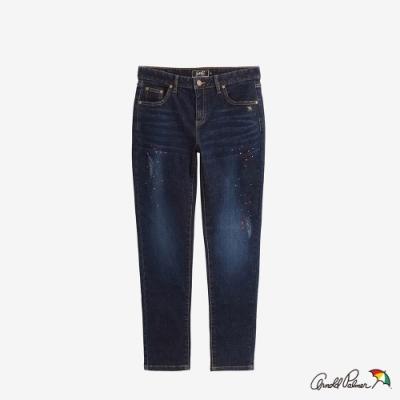 Arnold Palmer -女裝-超彈潑漆牛仔褲-深藍