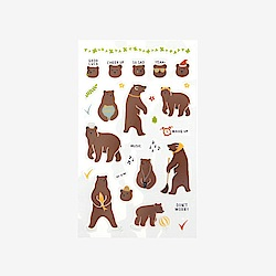 Dailylike 日日美好裝飾透明貼紙 - 01大棕熊