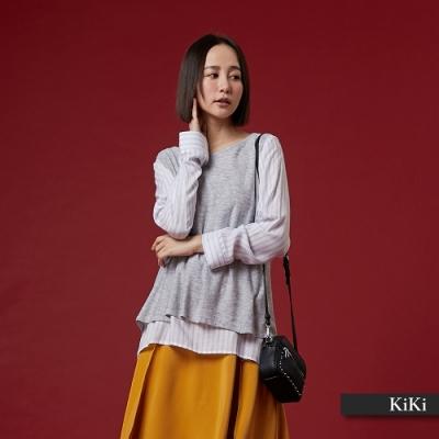 【KiKi】秋冬休閒長百搭長袖-毛衣(二色)