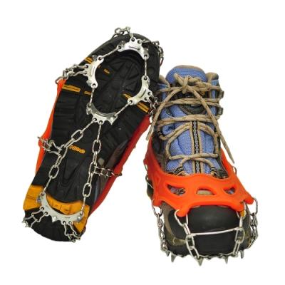 11齒雪地防滑冰爪登山防滑鞋套 防滑冰爪鞋套(附收納袋) -快速到貨