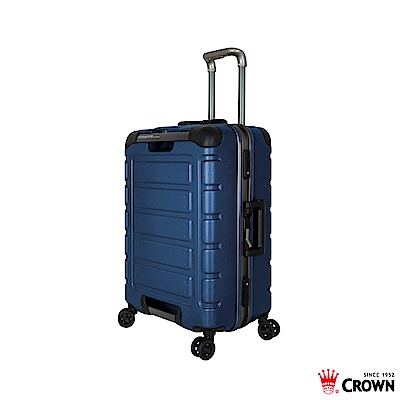 CROWN 皇冠 22吋鋁框箱 藍色 悍馬箱 獨特箱面手把 行李箱