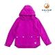 【hilltop山頂鳥】童款二合一防水蓄熱羽絨短大衣F22CJ2野翠紫 product thumbnail 1