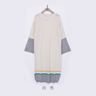 gozo 混羊毛撞色針織洋裝(二色)