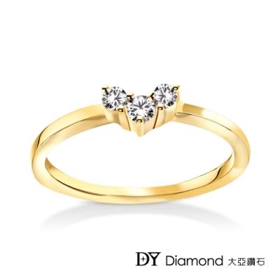 DY Diamond 大亞鑽石 L.Y.A輕珠寶 18黃K金 愛戀 鑽石線戒