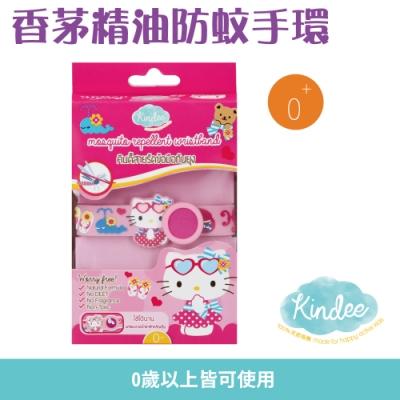【Kindee金蝶】香茅精油防蚊手環-Hello Kitty(0歲以上適用)