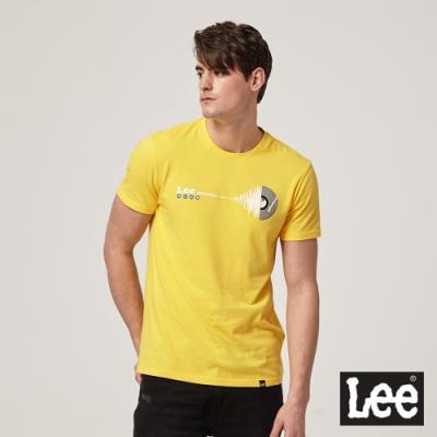 Lee 黑膠圖騰短袖T恤 -男款 - 黃