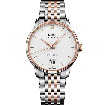 MIDO美度 BARONCELLI III永恆系列大視窗機械男錶-雙色/40mm