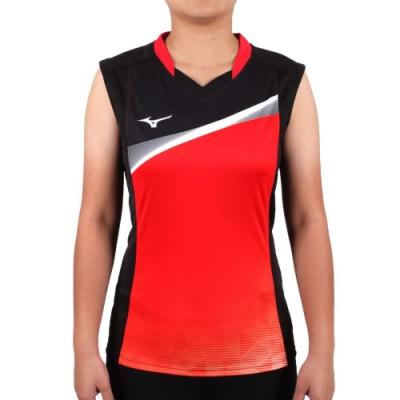 MIZUNO 2017企業排球聯賽 女排球背心-無袖上衣 企排 美津濃 黑紅白