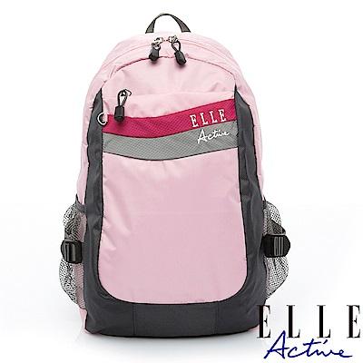 ELLE Active 律動系列-後背包-中-粉紅色