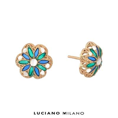 LUCIANO MILANO 聖芎之頂純銀耳環(天綠)