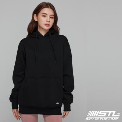 STL YOGA 韓國瑜珈 METRO SEMI overfit hoodie 運動休閒 純色連帽刷毛重磅大帽T 率性黑Black
