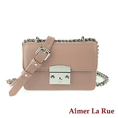 Aimer La Rue 卡蜜拉鍊條側背約會小方包(四色)