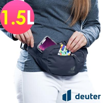 【deuter 德國】Urban Belt 1.5L 輕量休閒腰包3910420黑/胸包/側背包/路跑/慢跑