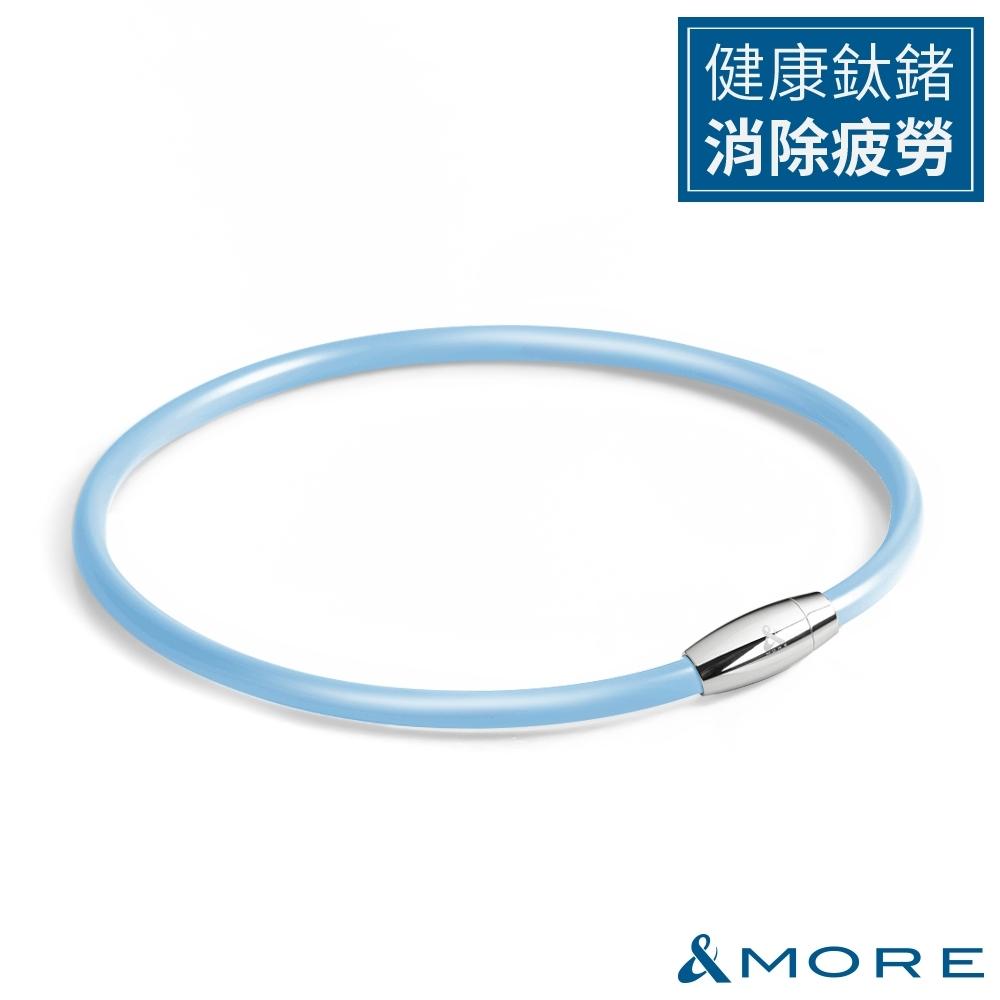 &MORE愛迪莫 健康鍺鈦項圈 Z power II(6mm)-淺藍