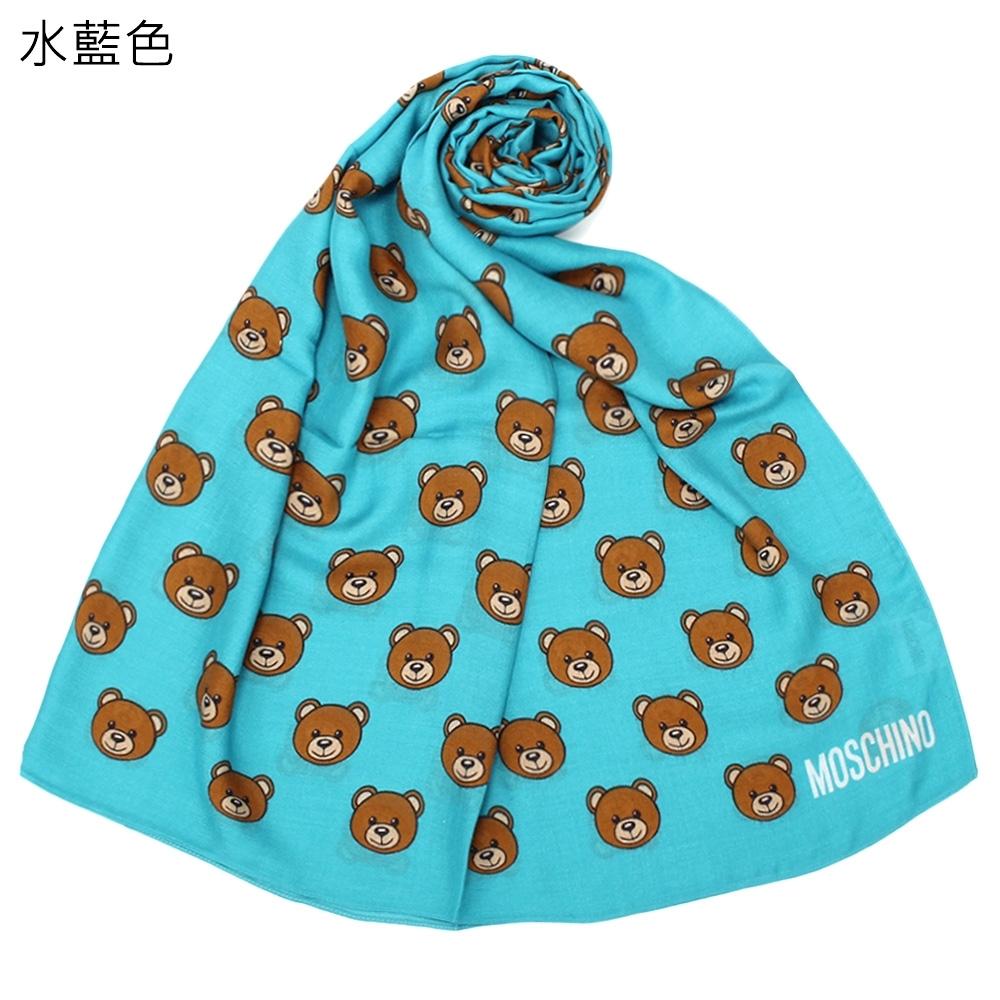 MOSCHINO 經典滿版TOY小熊圖樣輕盈披肩圍巾-5色