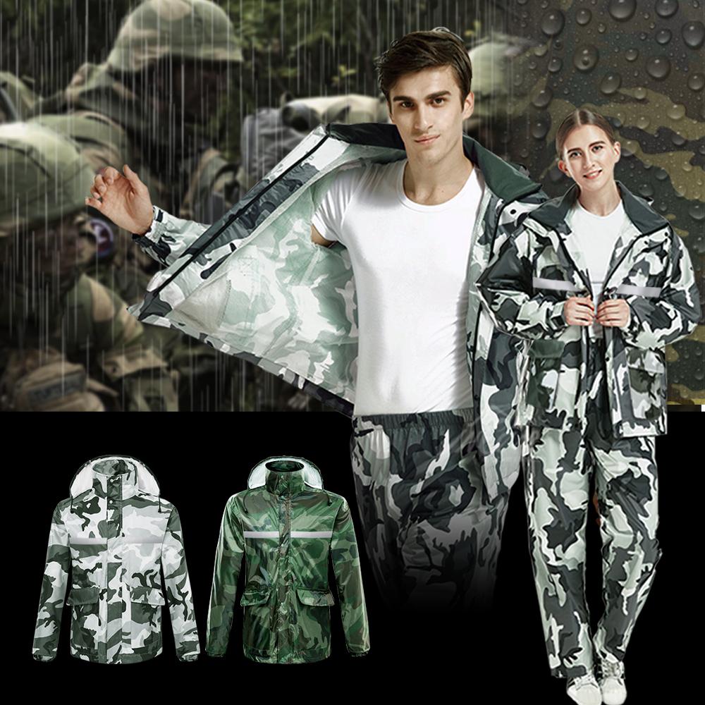 【Incare】迷彩高防水雙層高領二件式雨衣(2色可選) @ Y!購物