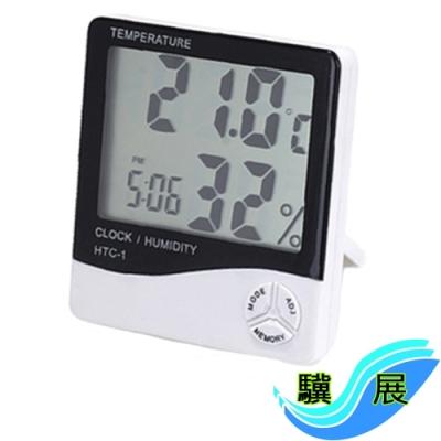 驥展 大字幕 多功能電子式 溫溼度計 時鐘 日曆 鬧鐘
