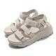 Skechers 涼鞋 Max Cushioning-Lured 女鞋 加厚中底 避震 緩衝 魔鬼氈 回彈 淺褐 灰 140218NAT product thumbnail 2