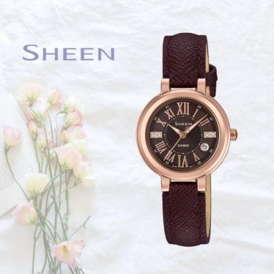 CASIO卡西歐 優雅羅馬刻度腕錶(SHE-4029PGL-5A)