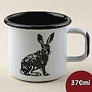 芬蘭Muurla 北歐琺瑯馬克杯 兔 370ml