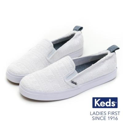 Keds DARCY SLIP 小雛菊休閒便鞋-白