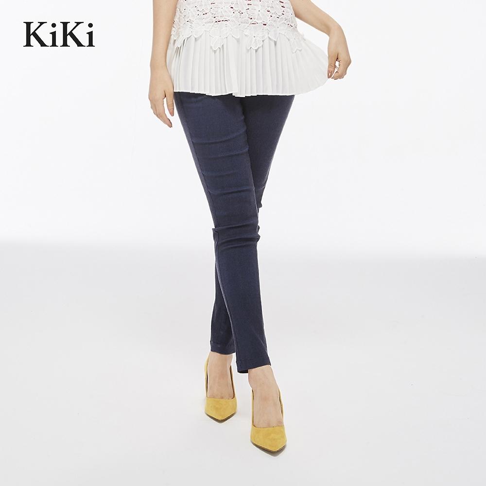 【KiKi】合身版顯瘦-長褲(二色)