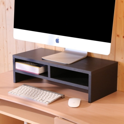 BuyJM低甲醛防潑水格紋雙層螢幕架/桌上架寬54x深24x高16.3公分