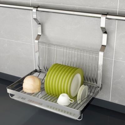 百轉空間 拉絲紋不鏽鋼廚房碗碟置物架(1入)