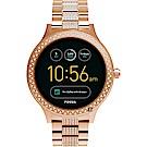 Fossil Q Venture系列觸控智能手錶-黑x玫塊金/42mm FTW6008