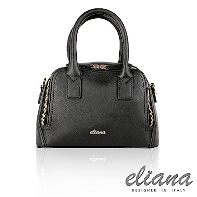 eliana  Natasha 系列兩用式波士頓包-經典黑