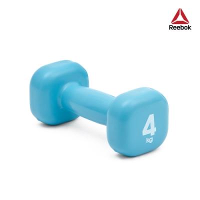 Reebok 色彩包膠鑄鐵啞鈴-4kg(淡藍)