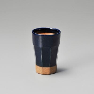 日本 MEISTER HAND STAY 啤酒杯 320ml-藍