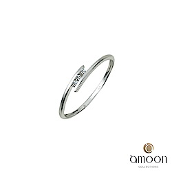 amoon 浪漫艾菲爾系列 陪伴 9K金鑽石戒指