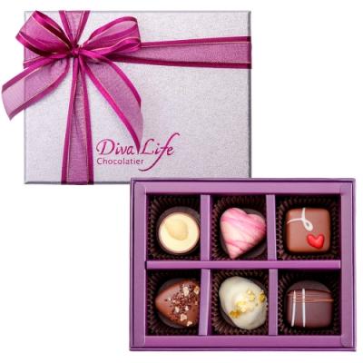 Diva Life 比利時巧克力6入(經典禮盒)