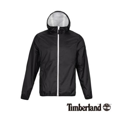 Timberland 男款黑色防水可收納式連帽外套|A1OM4