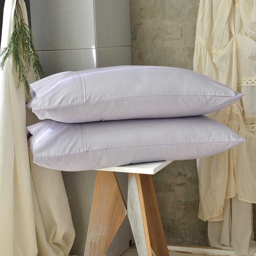 澳洲Simple Living 300織台灣製純棉美式信封枕套-二入(月見紫) @ Y!購物