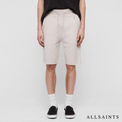 ALLSAINTS RAVEN 公羊頭骨刺繡標誌抽繩純棉短褲-漂白灰