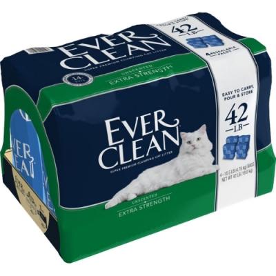 時時樂 美國EVERCLEAN 》新包低過敏結塊貓砂(藍標)-42lb