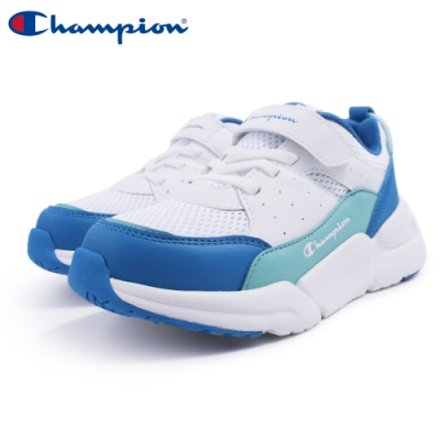 【Champion】RIPPLE 運動童鞋 透氣網布 大童鞋-白/湖水綠/藍(KSUS-0362-06)