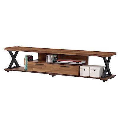 文創集 穆米時尚6.1尺木紋電視櫃/視聽櫃-182x40x42cm免組