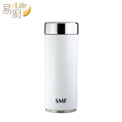 eLife易廚 SMF雙層真空骨瓷保溫杯350ml-鋅時尚